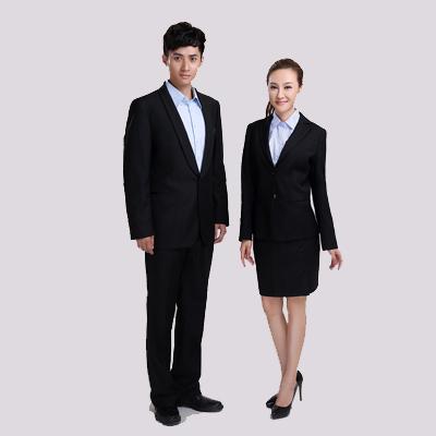 时尚男女黑色西装-北京女工职业装定做