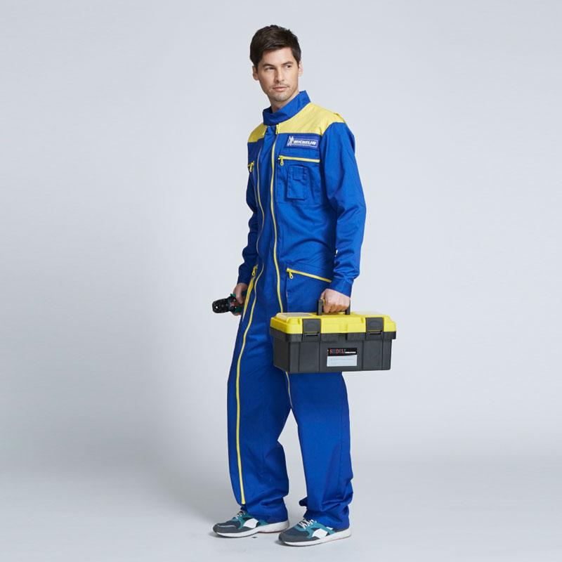男式蓝色连体工作服-北京工作服