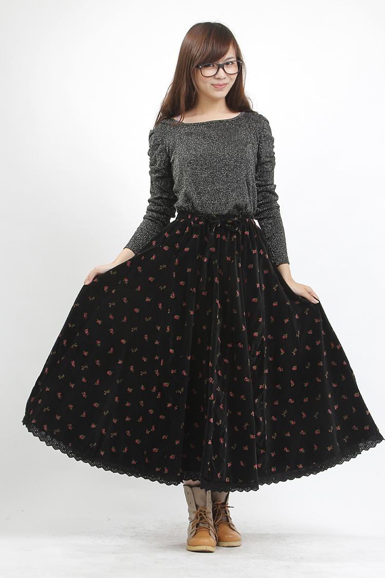 秋冬季半身长裙搭配 寒冷照样当女神